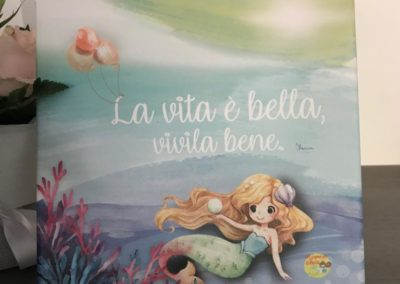 Bomboniere solidali sirenetta bionda